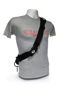 Geartac hands free dog leash and dog walking harness system with waste management