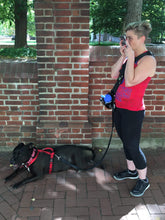 Load image into Gallery viewer, Geartac hands free dog leash and dog walking harness system is great for talking on your phone