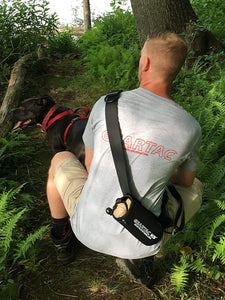 Geartac hands free dog leash and dog walking harness system for an awesome way to walk or hike with your dog