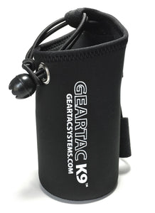 geartack9 pouch for holding dog waste made of neoprene for easy washing