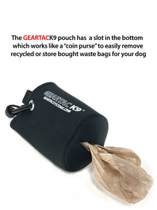 Geartac hands free dog leash and dog walking harness system with this incredible waste pouch for holding waste and keeping you hands free