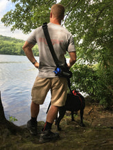 Load image into Gallery viewer, geartrek hands free dog walking device water bottle holder and sports system for hiking, camping and any situation a water bottle or any other dog accessories are needed
