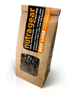 Nutragear beef liver dog treats for high reward dog training