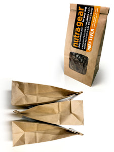 Nutragear beef liver dog treats for high reward dog training three pac