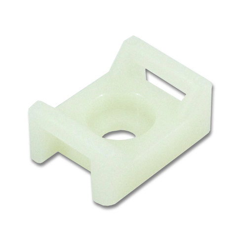 10mm Cable Tie Mount, White