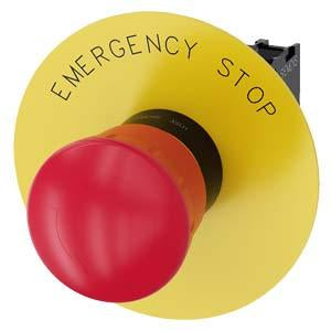 EMERG-STOP, TWIST RELEASE RED MH O40MM