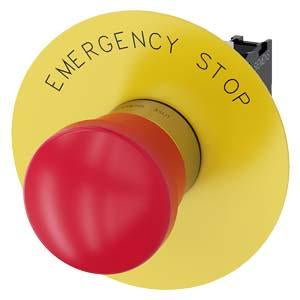EMERG-STOP, PUSH PULL RED MH CAP O40MM