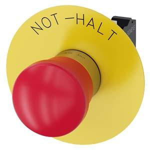 EMERG-STOP, PUSH PULL RED MH CAP 40MM
