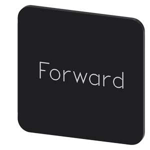 INSCR. LABEL, BLACK 22 X 22MM, FORWARD