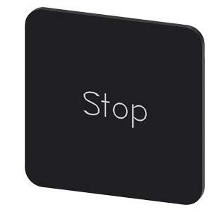 INSCR. LABEL, BLACK 22 X 22MM, STOP