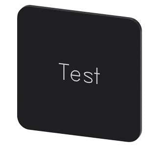INSCR. LABEL, BLACK 22 X 22MM, TEST