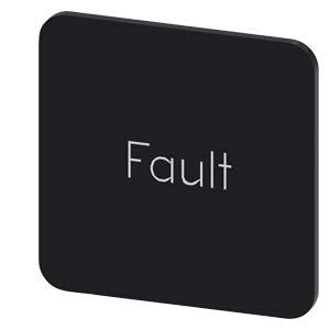 INSCR. LABEL, BLACK 22 X 22MM, FAULT