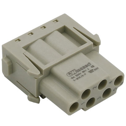 Serie S-M 16/6 Female crimp 6P 16A 500V