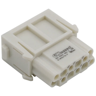 Serie S-M 10/12 Female crimp 12P 10A 250V