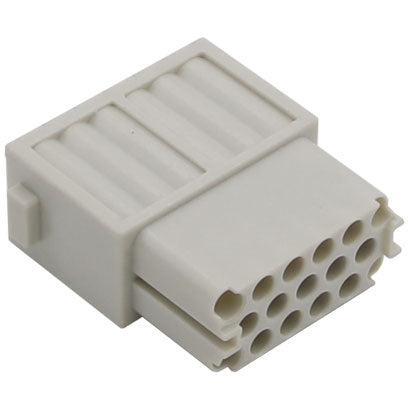 Serie S-M 10/17 Female crimp 17P 10A 250V