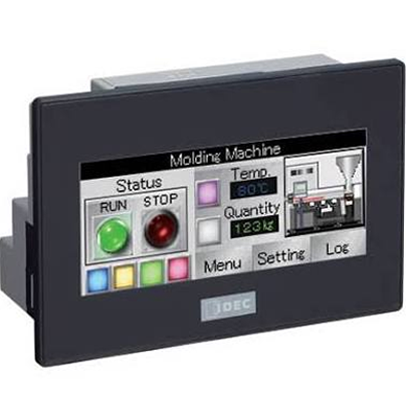 3.8 PLC+HMI COLOR BLACK BEZEL