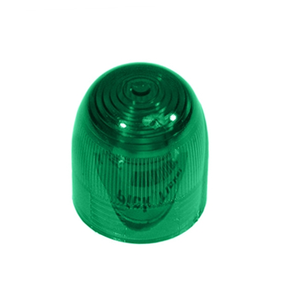 8MM PILOT LIGHT GREEN DOME