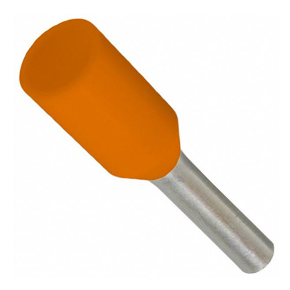 22G FERRULE ORANGE 10MM LONG