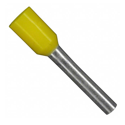 10G FERRULE YELLOW 6MM LONG