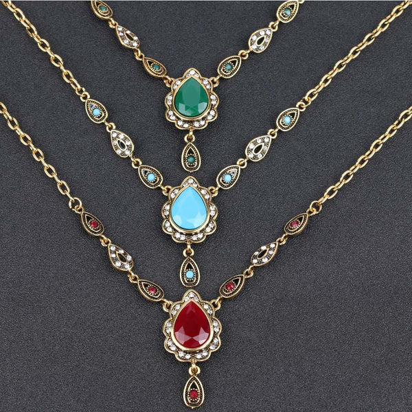 Vintage Bohemian Antique Gold Plated Necklace