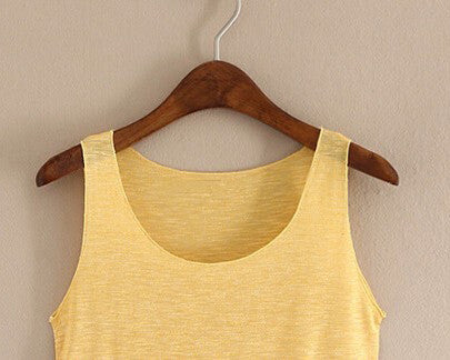 Basic Sleeveless Loose T-shirt