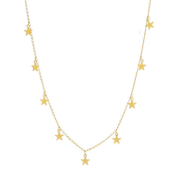 Simple Gold Silver Star Necklace