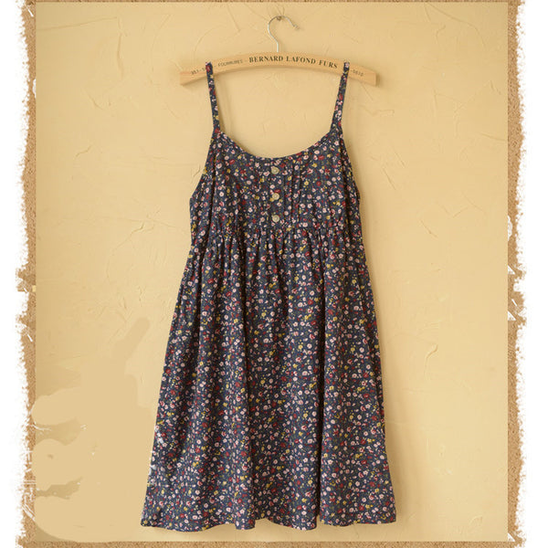 Floral Print Spaghetti Strap Basic Dress