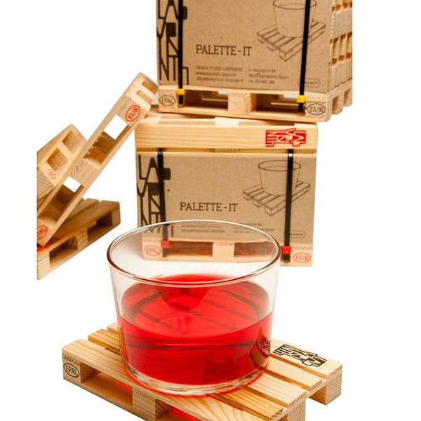 Novelty Wooden Pallet Coasters Set