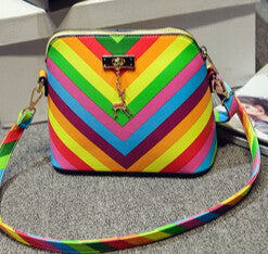 Rainbow Shell Shoulder Bag