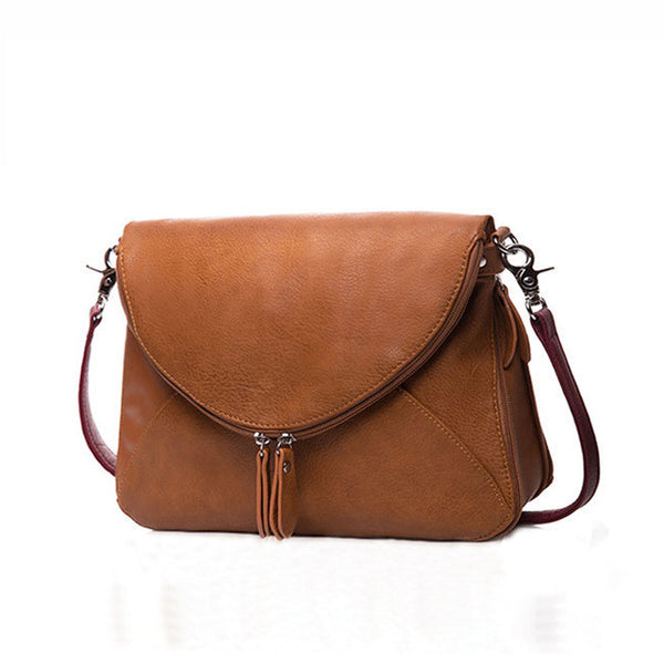 Messenger Zipper Shoulder Bag