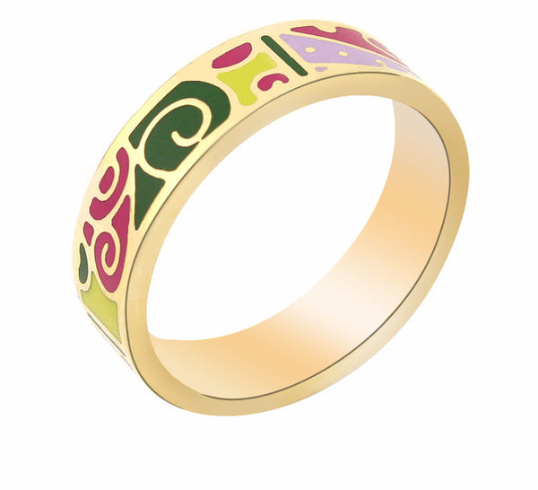 Abstract Pattern Color Ring