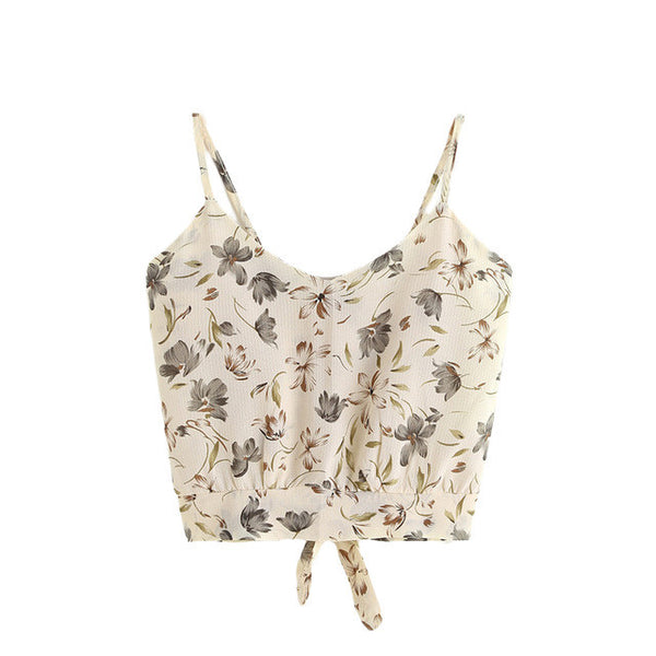 Floral Cut Out Cami Top