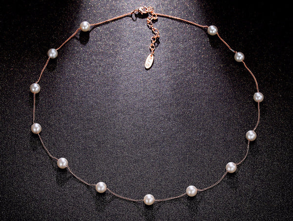 Elegant Pearl Imitation Necklace