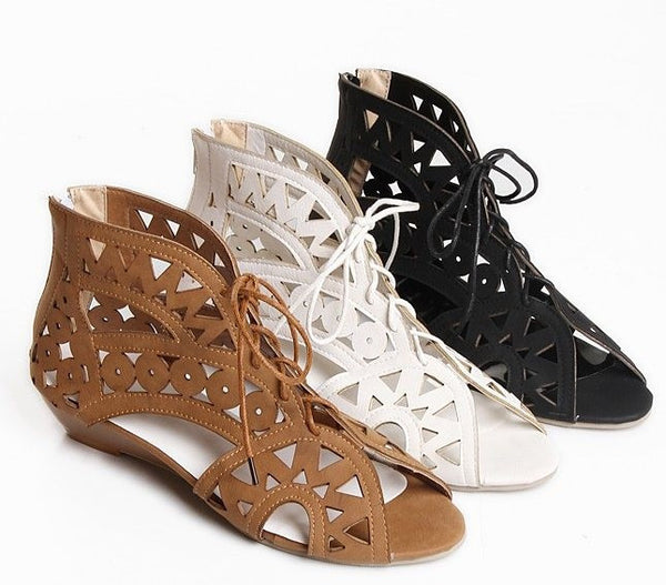 Lace Up Hollow Summer Shoes