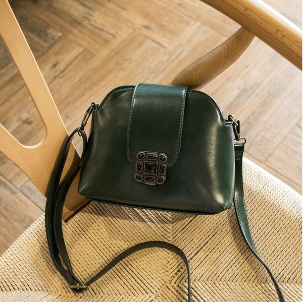 Vintage Shell Crossbody Bag