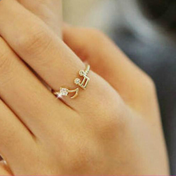 Musical Note Crystal Ring