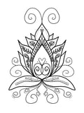 Coloring Book, Henna Spirit Animal, by Kathleen Hennricks - Blushing Willow Design Co.