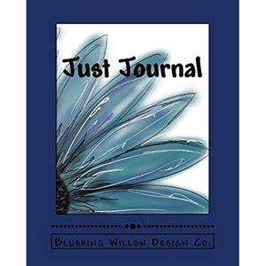 Just Journal Blue Sunflower Book - Blushing Willow Design Co.