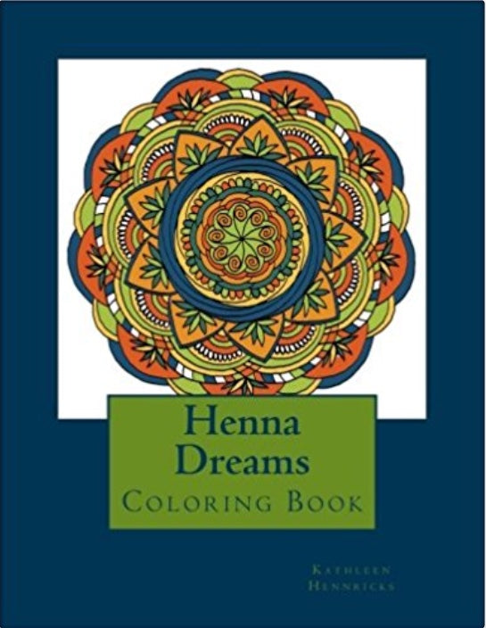 Coloring Book, Henna Dreams, by Kathleen Hennricks - Blushing Willow Design Co.