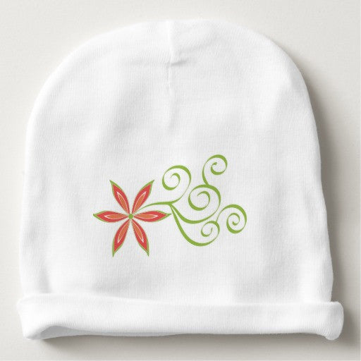 Beanie, Baby, Scroll Flower Design - Blushing Willow Design Co.