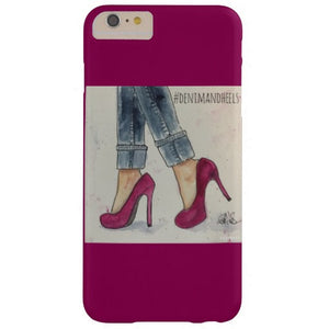 "Cell Phone Case, iPhone 6/6s Plus, ""Denim & Heels"" Design - Blushing Willow Design Co."