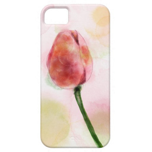 Cell Phone Case, iPhone 6/6s Plus, Tulip Design - Blushing Willow Design Co.