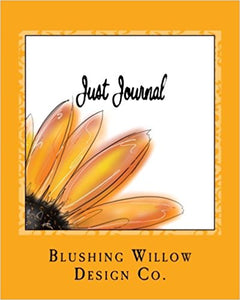 Just Journal Yellow Sunflower Book - Blushing Willow Design Co.