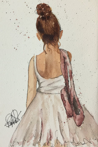 "Watercolor, Limited-Edition, Signed, Matted Prints, ""After the Dance"" - Blushing Willow Design Co."