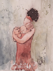 "Watercolor, Limited-Edition, Signed, Matted Prints, ""Morning's Lullaby"" - Blushing Willow Design Co."
