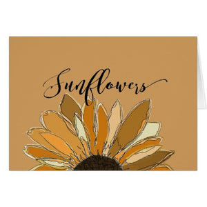 "Notecards, ""Sunflower"", Design - Blushing Willow Design Co."
