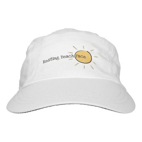 "Hat, Women's, ""Resting Beach Face"" Sun Design - Blushing Willow Design Co."