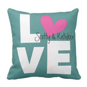 "Pillow, Personalized ""Love"" Design - Blushing Willow Design Co."