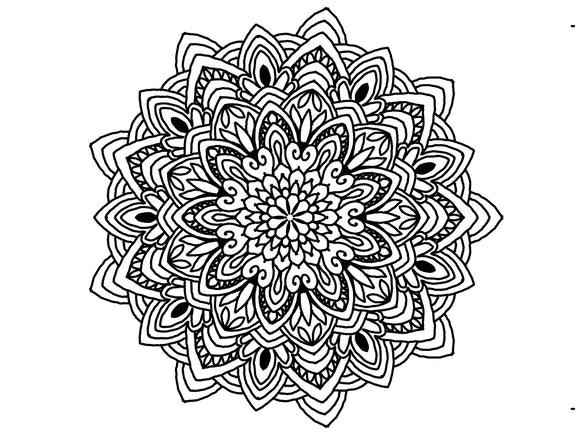 Digital Print Download Art, Mandala 0778 Coloring Page Design - Blushing Willow Design Co.