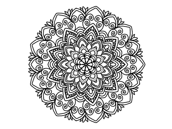 Digital Print Download Art, Mandala 0779 Coloring Page Design - Blushing Willow Design Co.